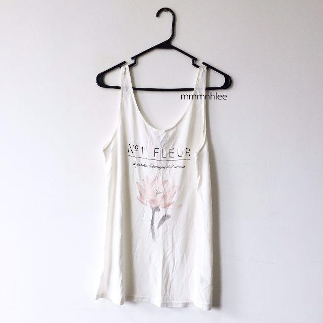 03ae98f82a9 H&M Fleur Tank Top, Women's Fashion on Carousell