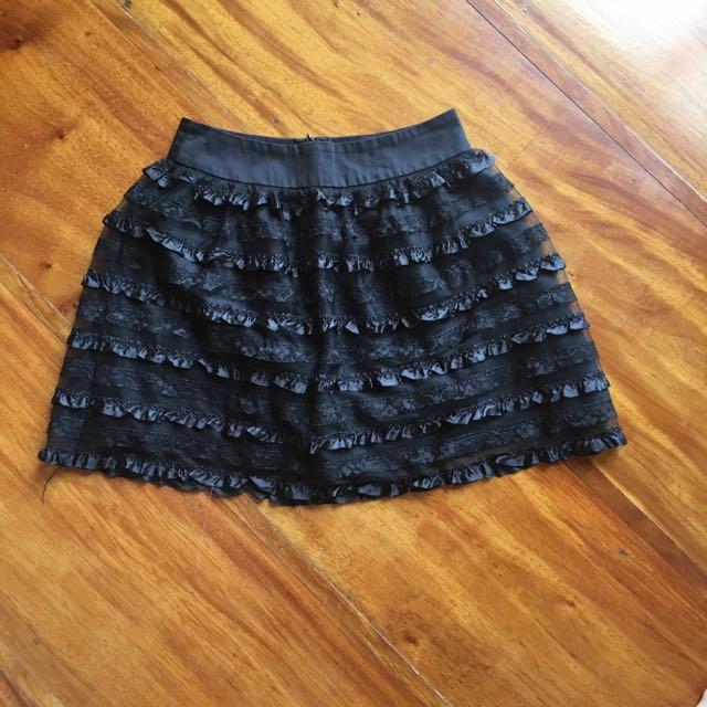 F21 Ruffle Skirt