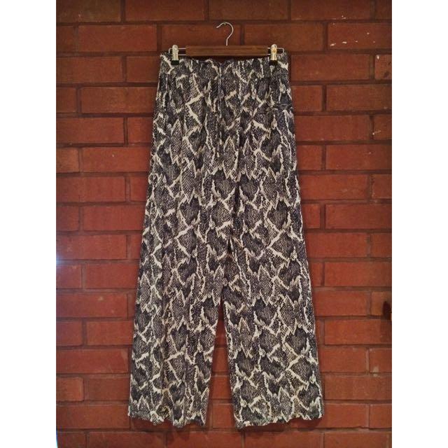 H&M Snake Skin Patterned Pants