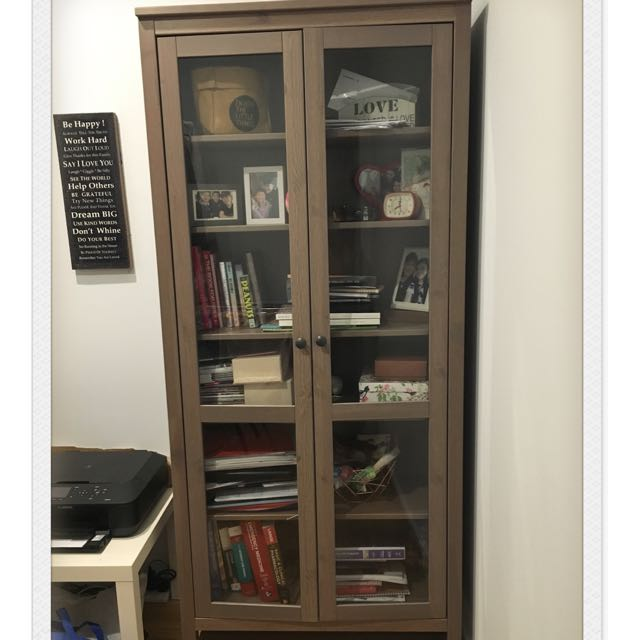 Ikea Hemnes Glass Door Cabinet Home Furniture On Carousell
