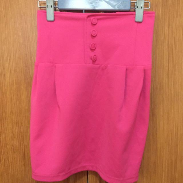 (Japan) High Waisted Pink Skirt