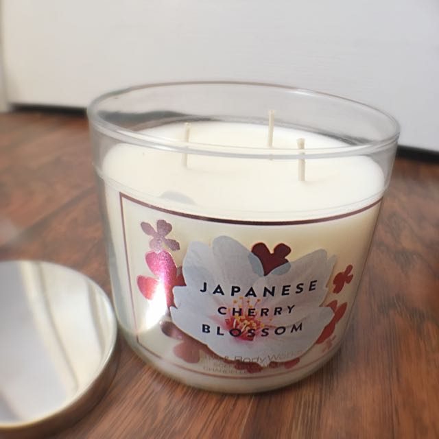 Japanese Cherry Blossom 3 Wick Candle