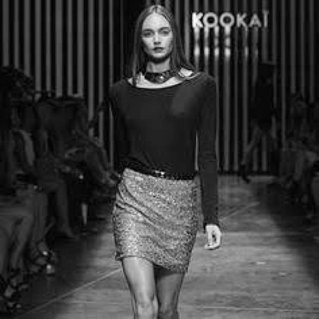 Kookai White Sequin Skirt
