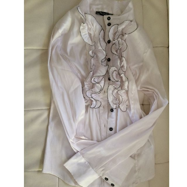 Ladies Long sleeves  white formal Shirt size 8