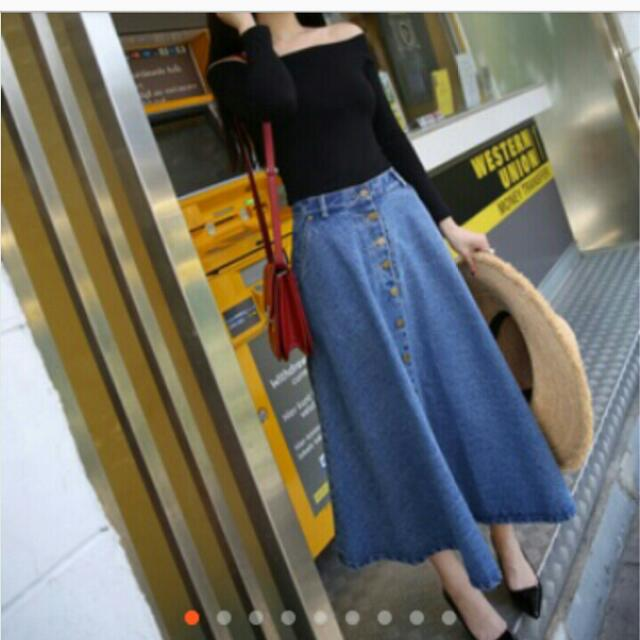 Looking For Denim Maxi Skirt For Plus Size