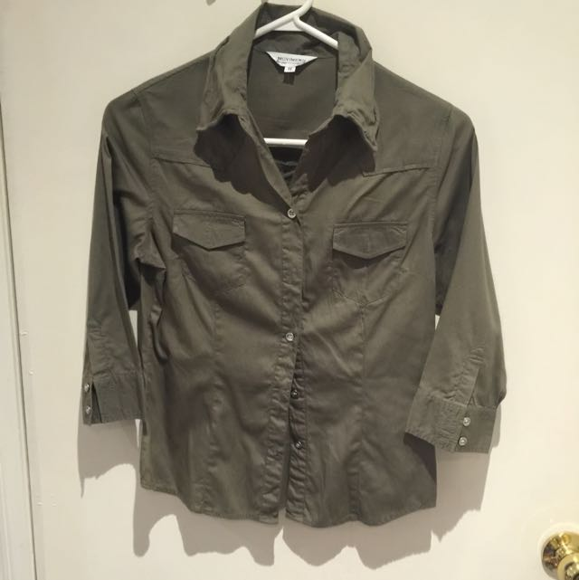Military Green Utility Shirt