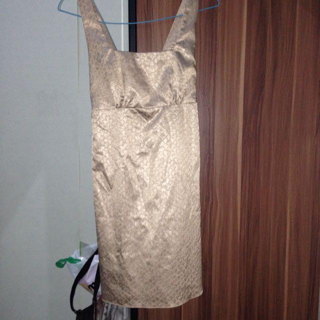 no name vintage gold dress