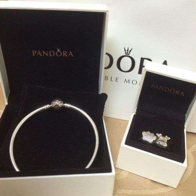 (禮物首選)Pandora蝴蝶結硬環