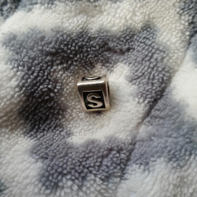 PANDORA Sterling Silver 'S' Charm
