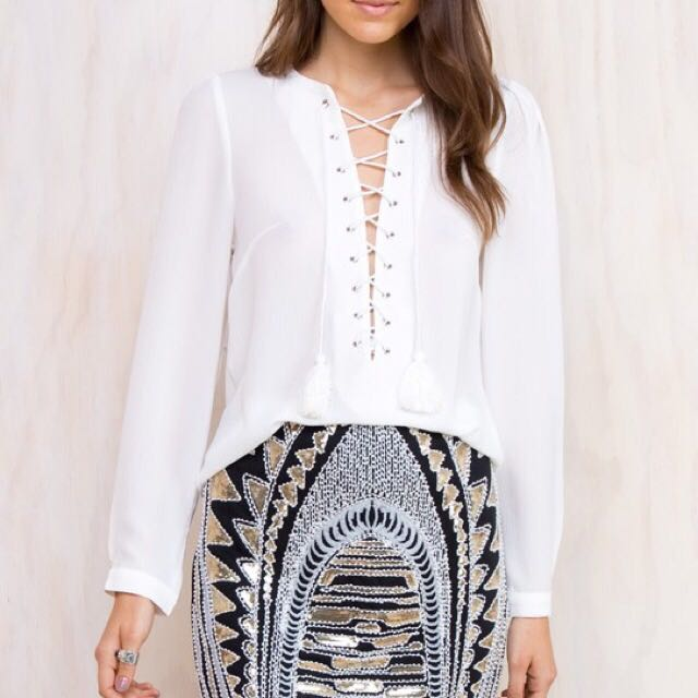 Princess Polly White Blouse