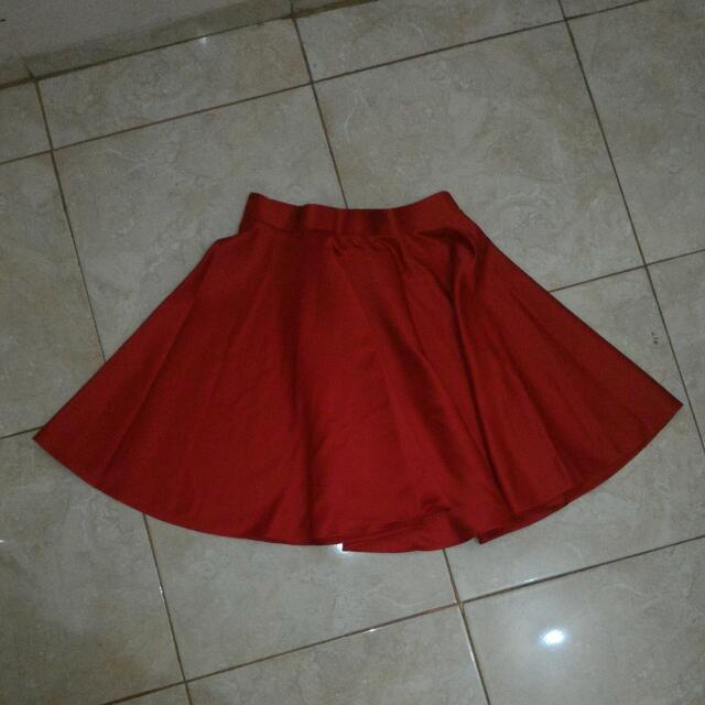 Red Skater Skirt (Custom Made)