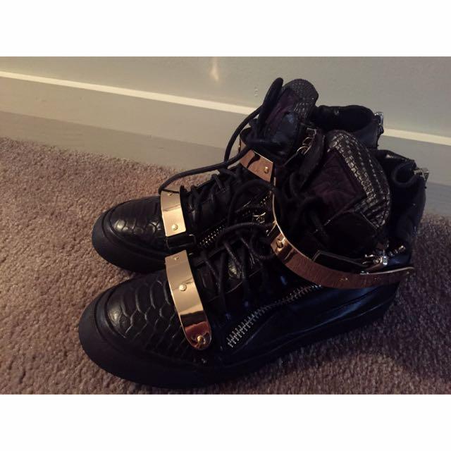 Rose Golden & Black Shoes