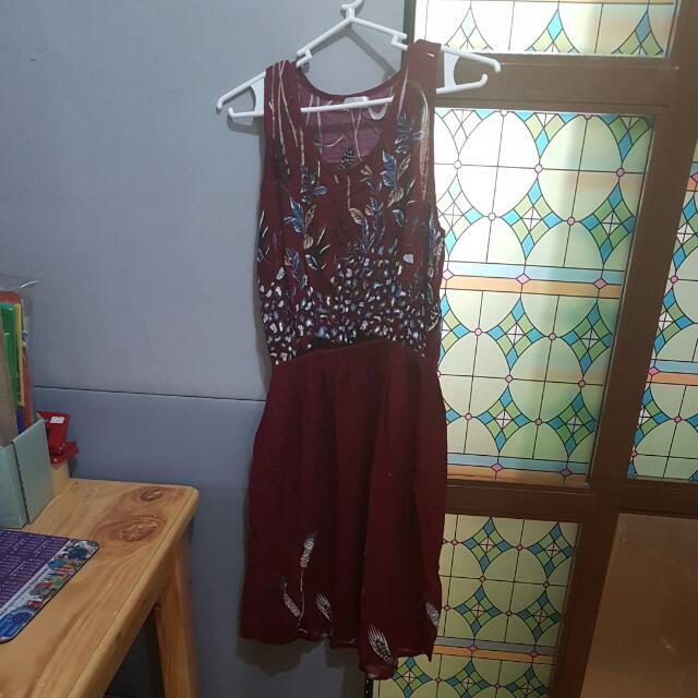 SMB Maroon Dress
