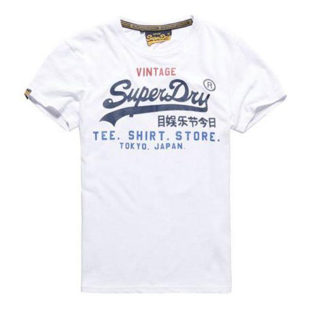 Superdry 男生白色經典Logo短T  (全新正品 美國帶回)