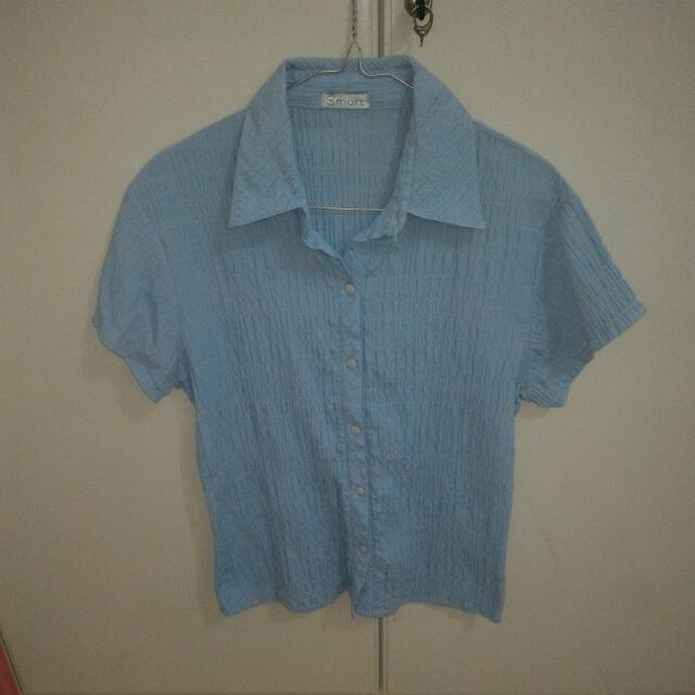 Textured Blue T-shirt