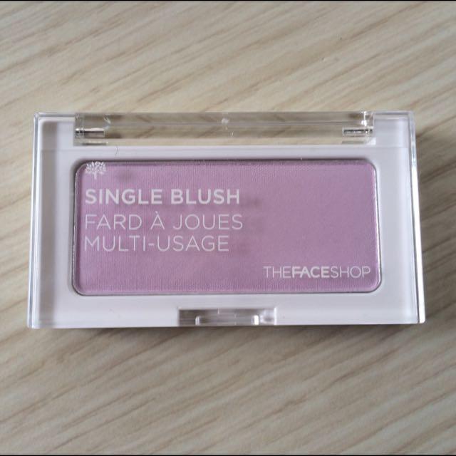 The face shop 菲詩小舖 立體單色紫色腮紅pp01