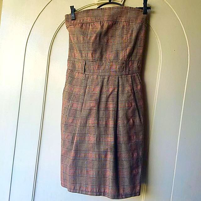 Tube Checkered Dress