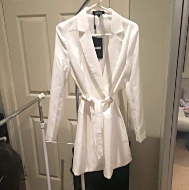 White Jacket/Coat - Missguided