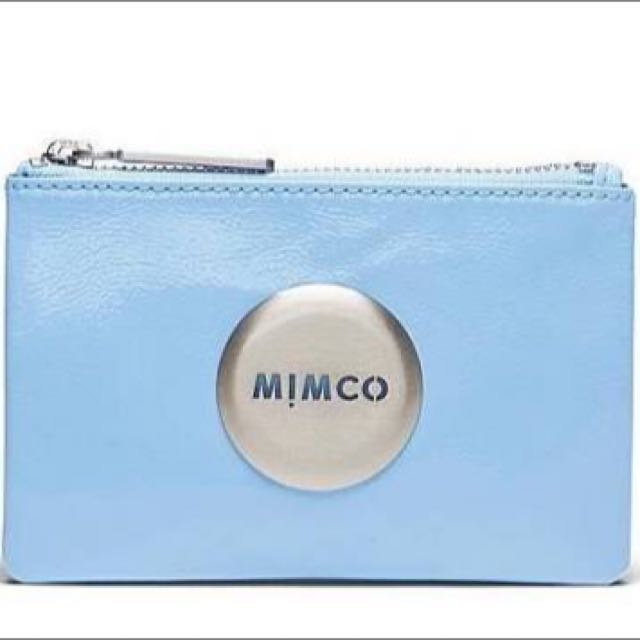 WTB Baby Blue Mimco Pouch