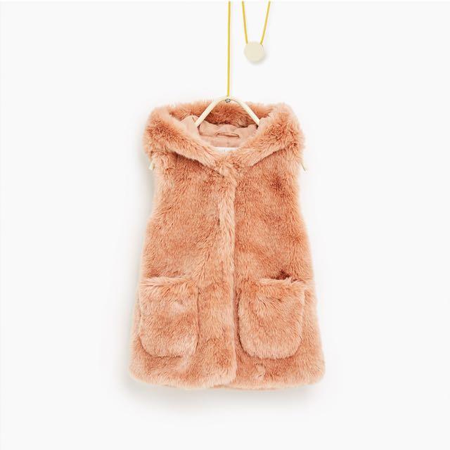 Zara Faux Fur Waist Coat
