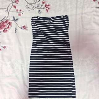 Striped Bodycon Tube Dress