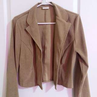Brown Suede Blazer