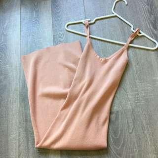 *Reserved* Light Pink Racer back spaghetti strap dress