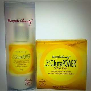 L-Gluta Anti-Ageing Soap and Line Corrector Cream
