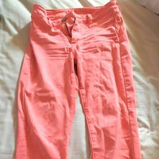 Pink American Eagle Jeggings