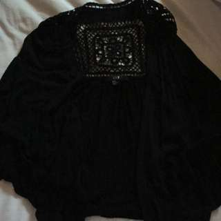 Black Flows Cardigan