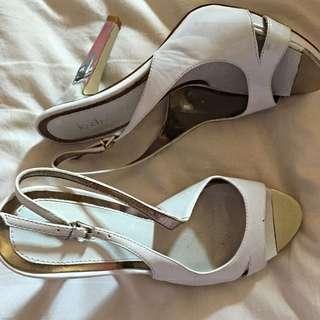 White Le Chateau Heels
