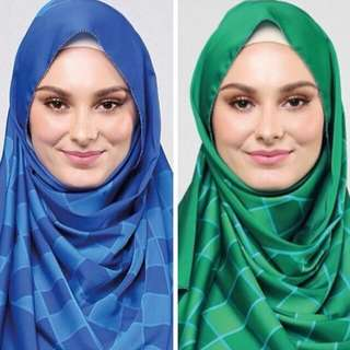 Duckscarves Weave Green And Blue