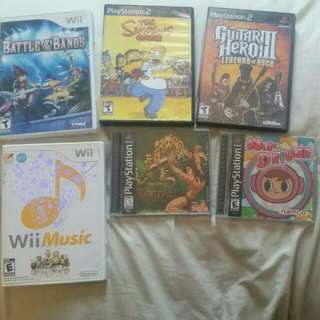 Playstation And Wii Games (MR DRILLER SOLD)