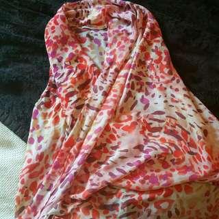 Pink Cheetah Print Crossover Top