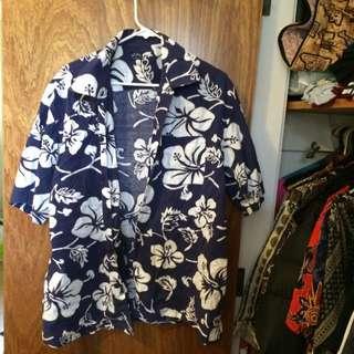 Button Up Short Sleeve Flower Shirt
