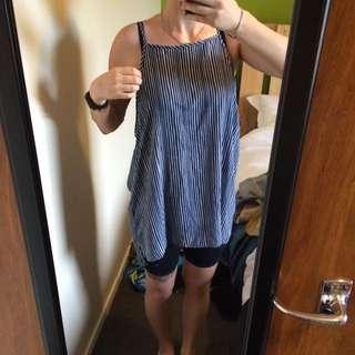 Blue Striped Dress/top