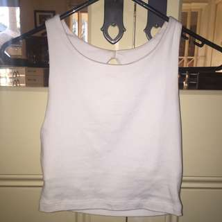 Kookai White Crop Top