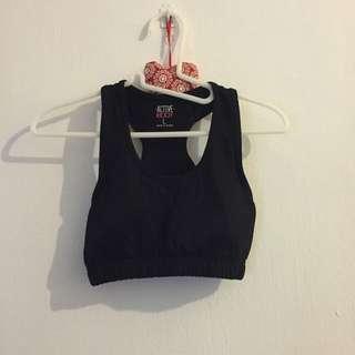 cotton on body black sports bra