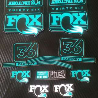 Fox 36 Fork Decals Turquoise