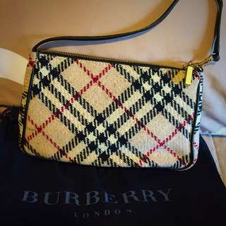 Vintage Tweed Burberry Bag; PERFECT condition