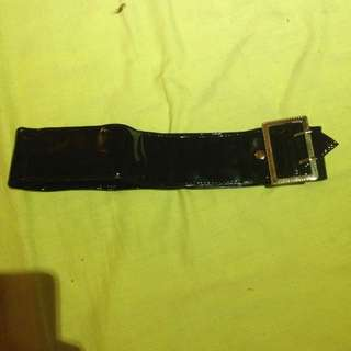 Black Wet Look Belt