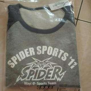 [e Sports Team]Spider Sports圓領長袖棒球衫 男深藍L