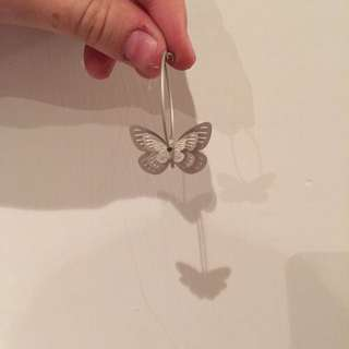 3d Butterfly Earrings