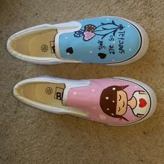 Flat Shoes hand painted