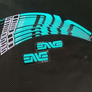 Enve M50 Rims Decals Turquoise Black