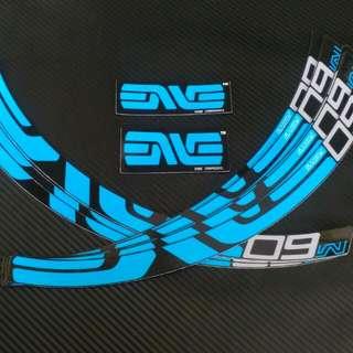 Enve M60 Rims Decals Blue Black