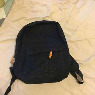 Black lace backpack