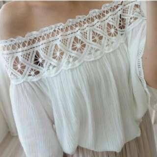 全新 坡希米雅風 白色上衣