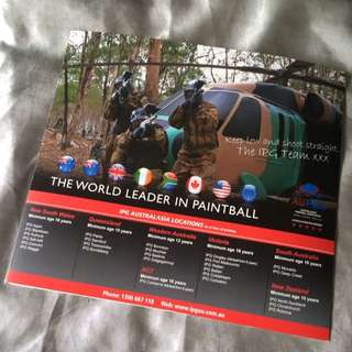 26 PAINTBALL VOUCHERS RRP $400