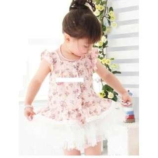 *SALE* BN 2 Pcs Flower-Pattern Top and Skirt Set
